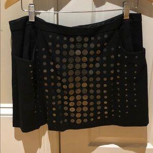 Nanette Lepore black sequin mini skirt